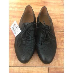 NWT Zara Women's Black Oxford Loafers